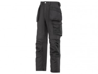 PANTALONE NERO IN CANVAS+ CON TASCHE ESTERNE 3214