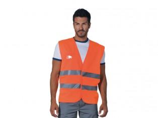 GILET LEGGERO ALTA VISIBILITA' ARANCIO EN 471 CLASSE 2 HV014/AR