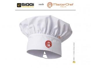 master cheff cappello bianco con logo