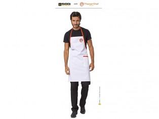 master cheff parannanza bianca con logo ricamato
