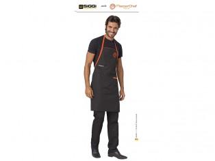master cheff parannanza nera con logo ricamato