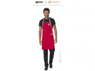 master cheff parannanza rossa con logo ricamato