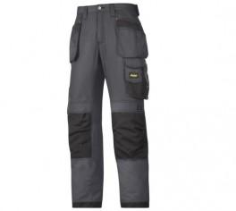 Pantaloni estivi in Rip-Stop, tasche esterne grigio scuro/nero