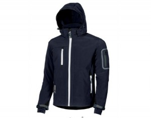 GIACCA IN TESSUTO SOFT SHELL METROPOLIS U-POWER DEEP BLUE