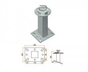 TORRETTA H 35 cm BASE INCLINATA 20X28 cm