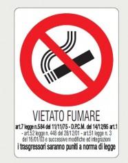 CARTELLO VIETATO FUMARE CON DESCRIZIONE 20X30 17149